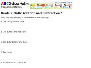 Grade 2 Math: Addition and Subtraction 5 Worksheet