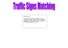 Traffic Sign Matching Worksheet