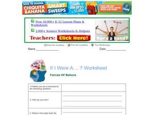 Forces of Nature: If I Was A Hurricane Worksheet
