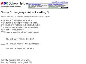 Language Arts: Reading 3 Worksheet