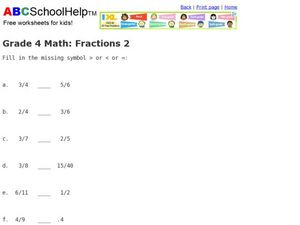 Grade 4 Math: Fractions 2 Worksheet