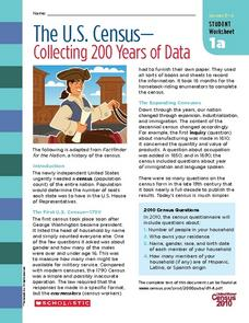 The U.S. Census- Collecting 200 Years of Data Worksheet