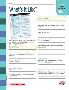 What's It Like? Worksheet