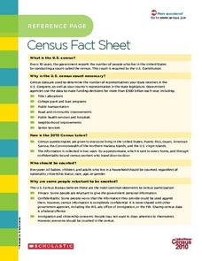 Reference Page: Census Fact Sheet Worksheet