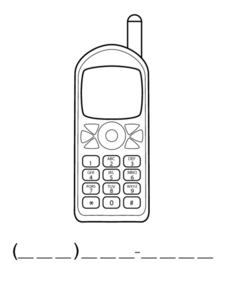Learning to Write a Phone Number Worksheet