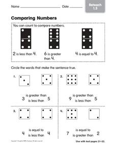 Comparing Numbers: Reteach Worksheet