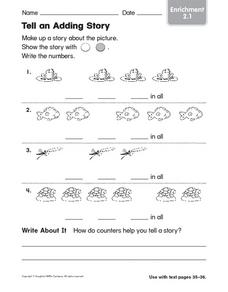 Tell and Adding Story Worksheet