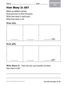 How Many in All?: Enrichment Worksheet