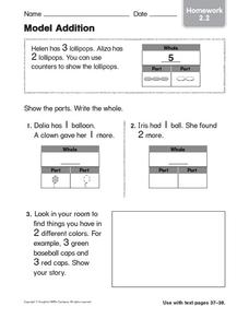 Model Addition: Homework Worksheet