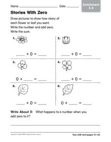 Stories With Zero Worksheet
