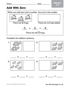 Add With Zero Reteach 2.4 Worksheet