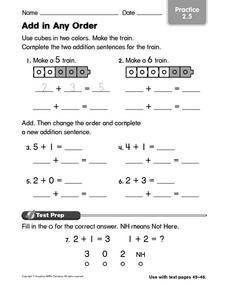 Add in Any Order: Practice Worksheet