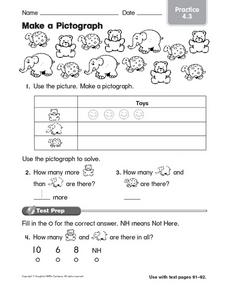 Making a Pictograph Worksheet