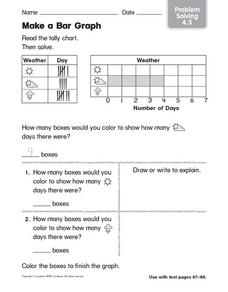 Tally Chart: Make a Bar Graph Worksheet