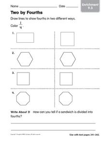 Two by Fourths Worksheet