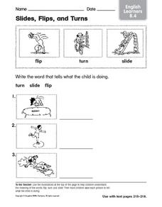 Slides, Flips, and Turns: English Learner Worksheet
