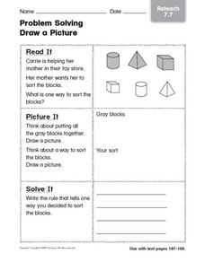 Problem Solving: Draw a Picture Reteach 7.7 Worksheet