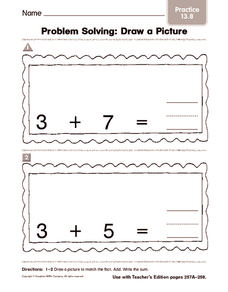 Problem Solving Draw a Picture: Practice Worksheet