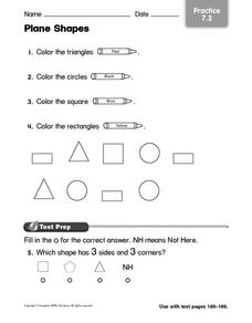 Plane Shapes: Practice Worksheet