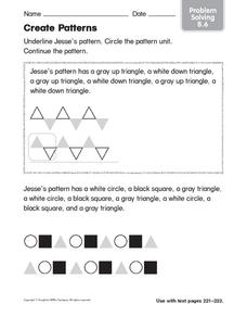 Create Patterns 2 Worksheet