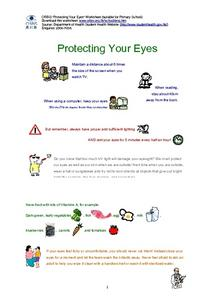 Protecting Your Eyes Worksheet