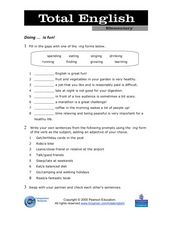 Total English Elementary: Doing is Fun! Worksheet