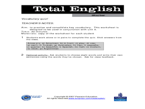 Total English: ELL Activity 4 Worksheet