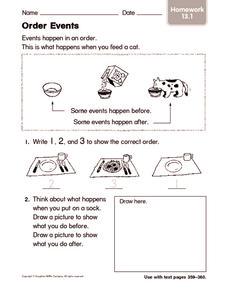 Order Events 2 Worksheet