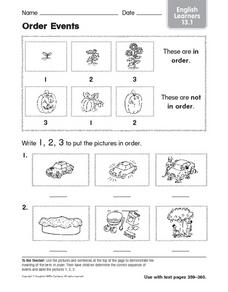 ELL: Order Events Worksheet