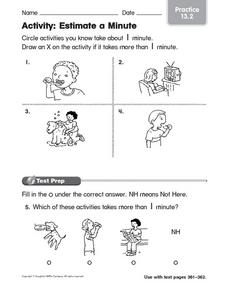 Activity: Estimate a Minute Worksheet