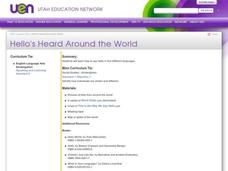"""Hello's"" Heard Around the World Lesson Plan"