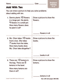 Add With Ten 2 Worksheet