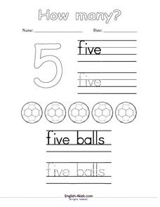 How Many? Counting to Five Lesson Plan