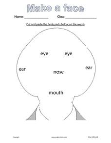 Cut and Paste:  Make a Face Worksheet