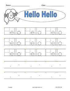 "ESL: The Word ""Hello"" Worksheet"