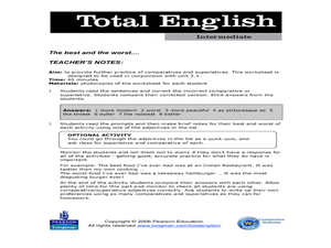 Total English Intermediate: The Best and the Worst... Worksheet