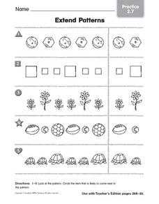 Extended Patterns Worksheet