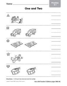 One and Two: Practice Worksheet