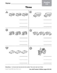Counting: Three Worksheet