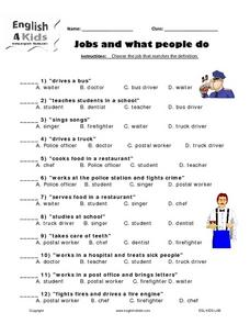 Jobs and What People Do Worksheet