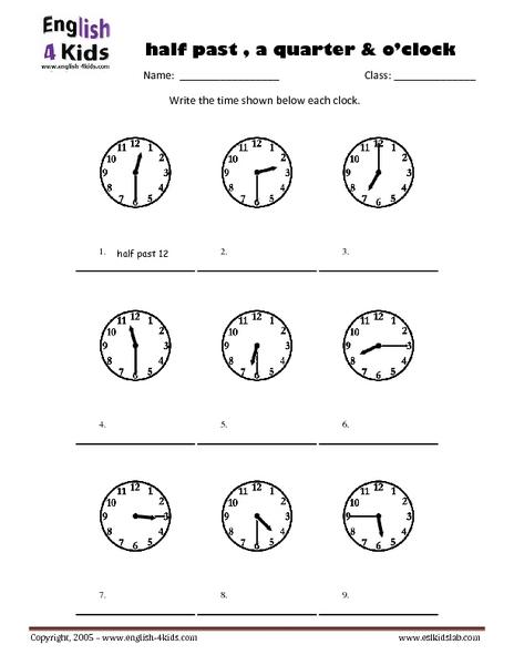 Telling Age Worksheet: Handwriting Practice-