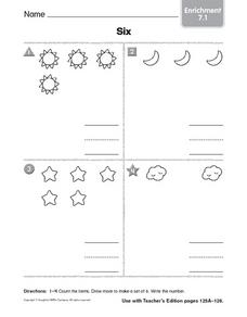 The Number 6: Worksheet 2 Worksheet