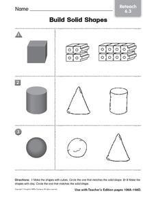 Build Solid Shapes 3 Worksheet