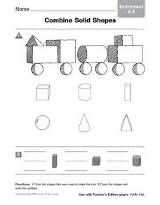 Combine Solid Shapes: Enrichment Worksheet