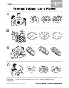 Problem Solving: Use a Picture, Enrichment Worksheet