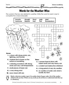 Word for the Weather-Wise Worksheet