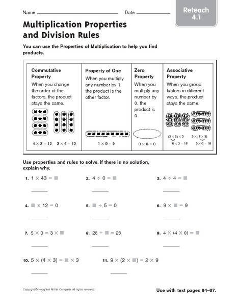 multiplication properties and division rules 2 worksheet for 4th 5th grade lesson planet. Black Bedroom Furniture Sets. Home Design Ideas