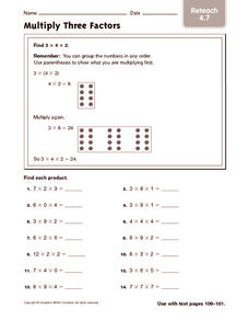 Multiply Three Factors 2 Worksheet
