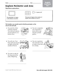 Explore Perimeter and Area Worksheet