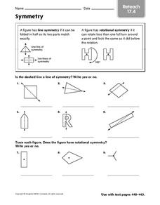 Symmetry - Reteach 17.4 Worksheet